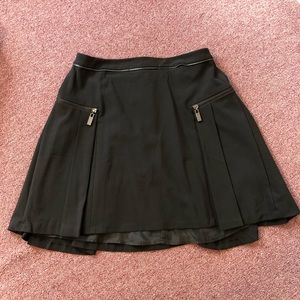Philosophy Pleaded Skirt w/ Zipper Detail